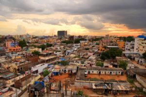 Slums in Hyderabad, India